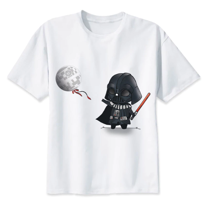 Camiseta Darth Vader - Branca
