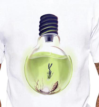 Camiseta Profunda Luz Mergulho