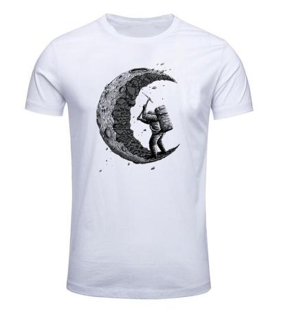 Camiseta Cavando a Lua - Branca